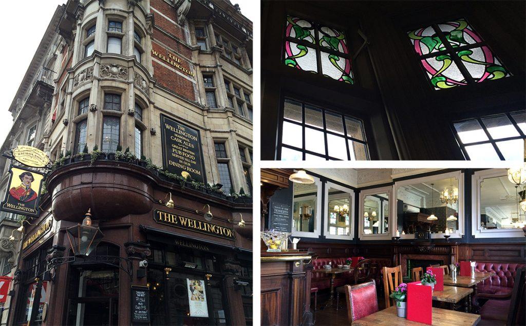 Das Wellington: Ein typisch britischer Pub mit Restaurant im Obergeschoß.