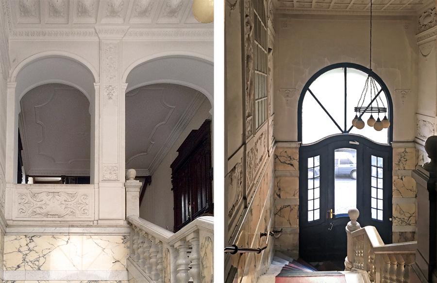 Der imposante Eingangsbereich. Was für eine riesige Tür ist das bitte?
