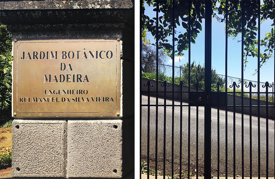 Am Eingang des 'Jardim Botânico', des Botanischen Gartens von Madeira.
