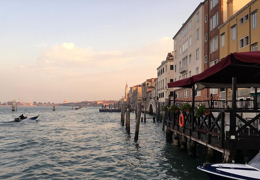 "Ankunft in Venedig, wieder an der Station ""Fondamente Nuova""."