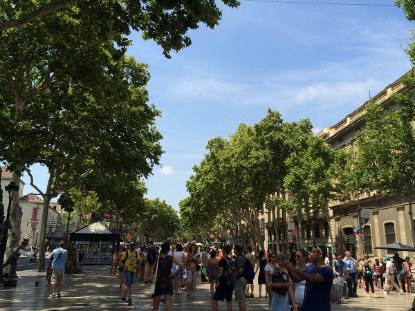"Die berühmte ""Ramblas"" von Barcelona."
