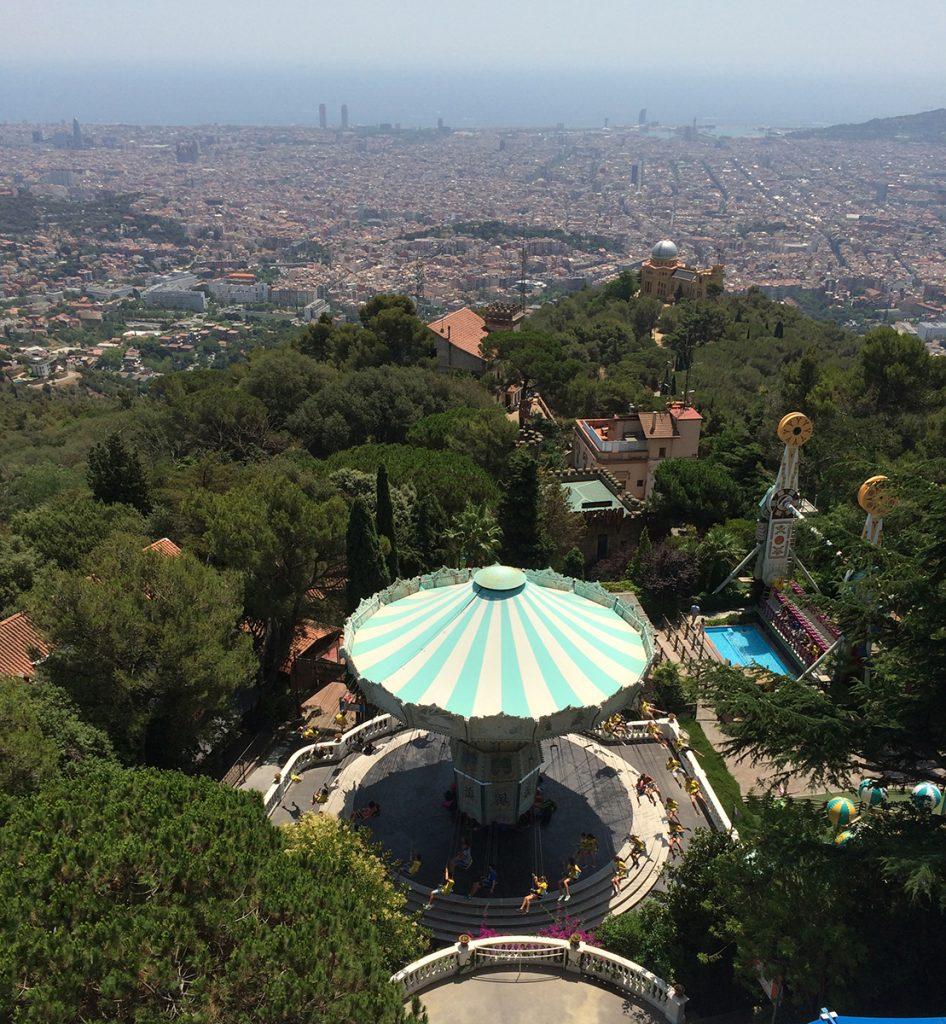 Barcelona liegt uns zu Füßen - eine fantastische Aussicht.