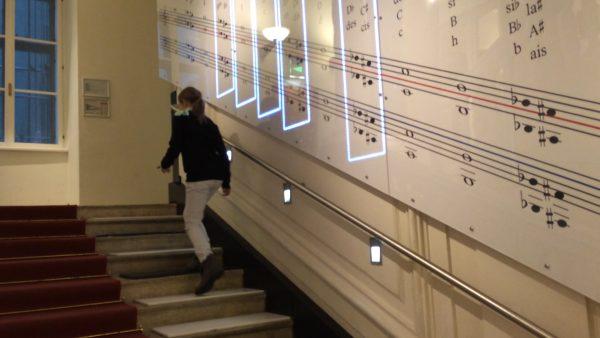 Die Klangtreppe im Haus der Musik in Wien.