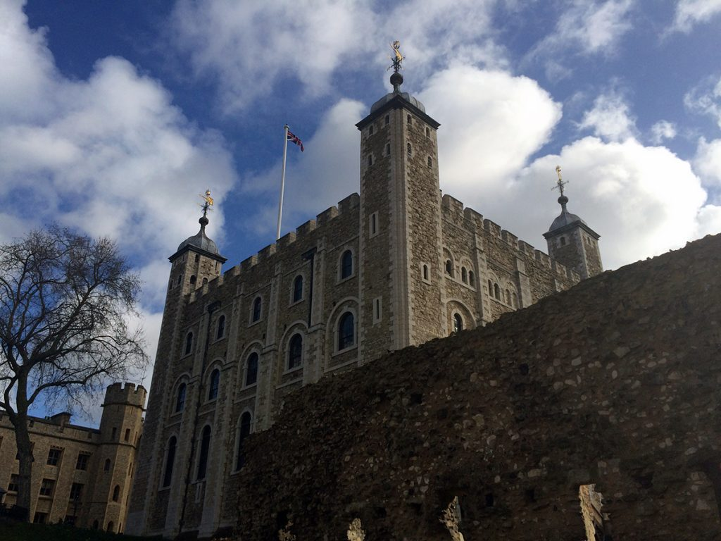 Der 'White Tower', innerster Zirkel des Tower of London.