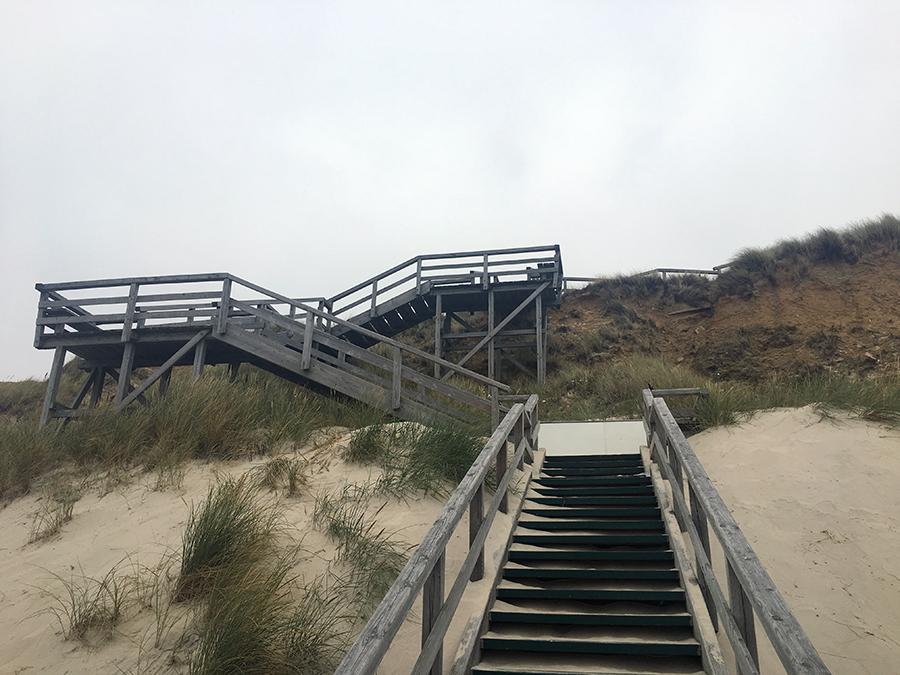 Strandübergang südlich von Kampen, kurz vor Wenningstedt.