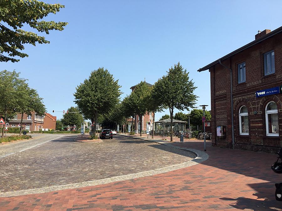 Der Bahnhof in Niebüll
