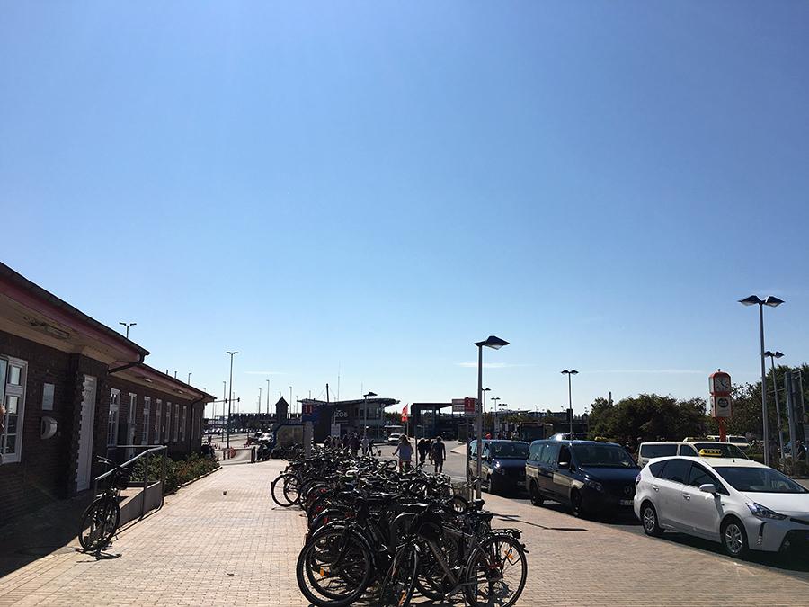 Ankunft am Bahnhof in Westerland - wir sind da, auf Sylt!