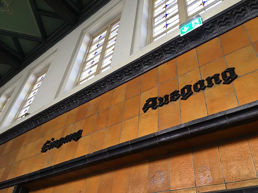 In Westerland selber waren wir nicht unterwegs, nur einmal verlassen wir den nostalgischen Bahnhof Richtung City für einen kurzen Einkauf.