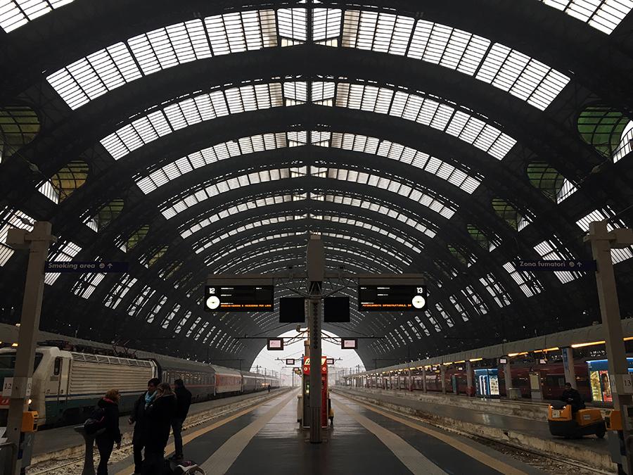 Angekommen: Der Hauptbahnhof in Mailand.