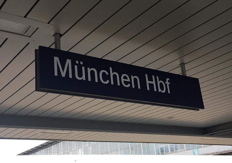 Abfahrt in München, Hauptbahnhof.