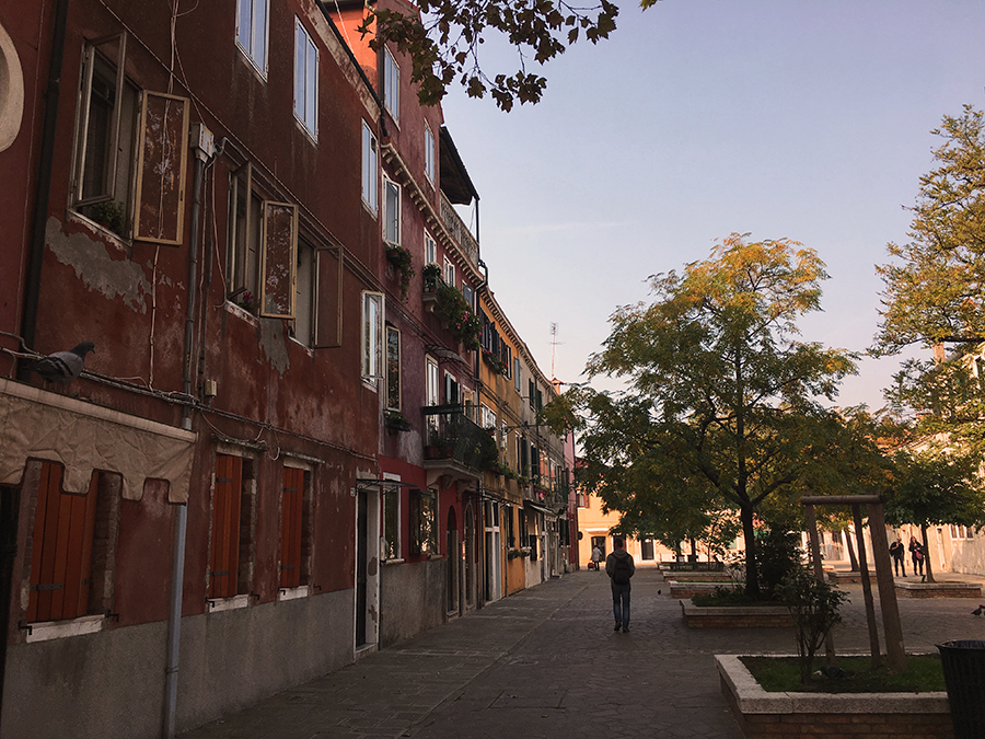 Viel Platz hier in Murano.