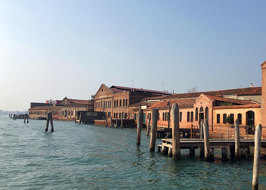 Ankunft in Murano.