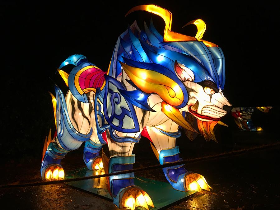 ... machen den Anfang auf unserem Weg durch das China Light Festival.