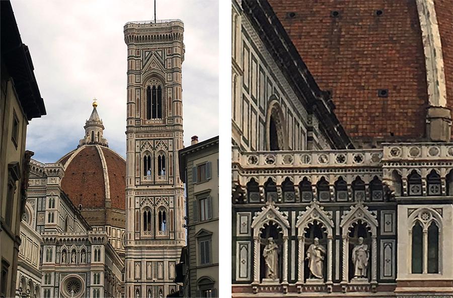Die wunderschöne Kathedrale 'Santa Maria del Fiore' mit ihren reichen Details.