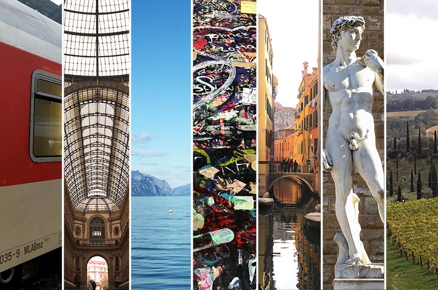 Zu unseren Reiseberichten vom Railtrip durch Italien.