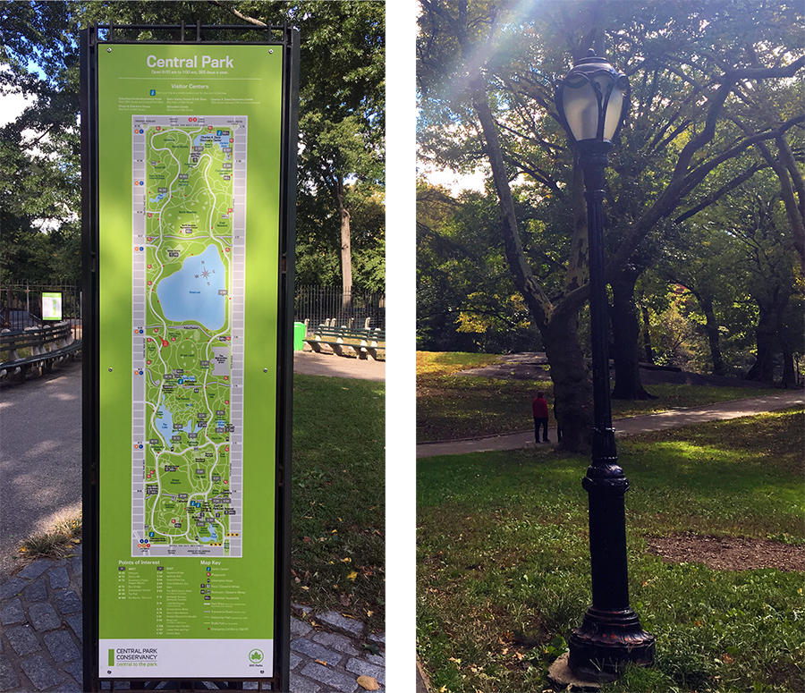 Das da (links) brauchst du im Central Park nicht, wenn du das da (rechts) hast.