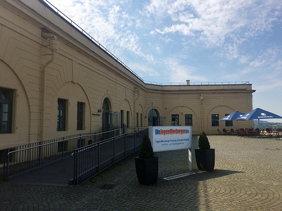 Willkommen in der Jugendherberge in der Festung Ehrenbreitstein!