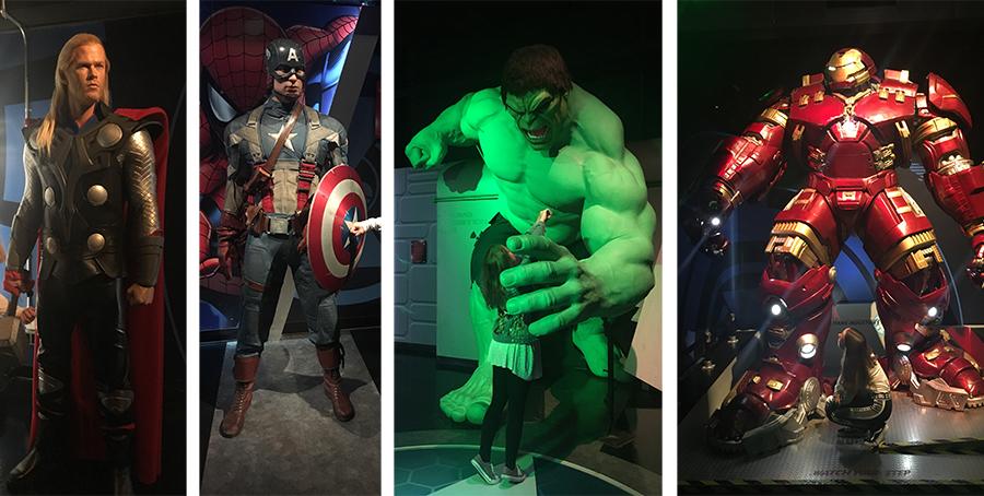 Thor, Captain America, der Hulk und viele andere erwarten uns schon.
