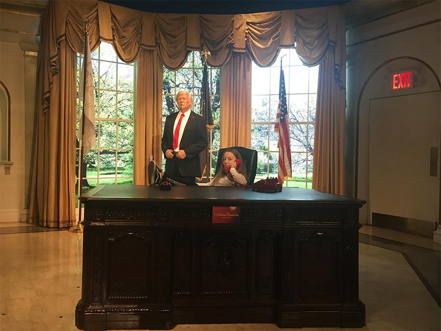 Im Weißen Haus bei Donald Trump.