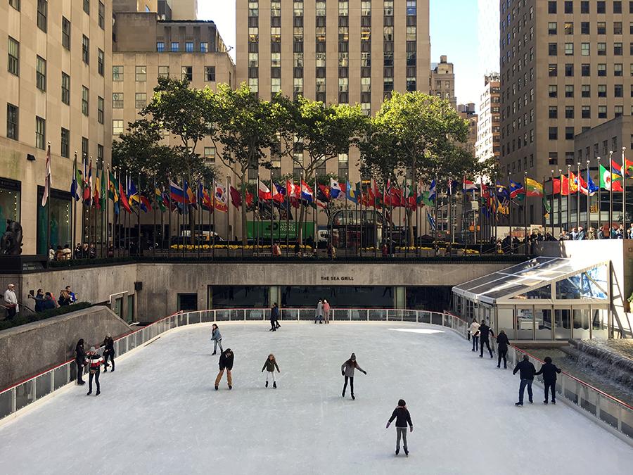 Yeah, Schlittschuhlaufen in New York!