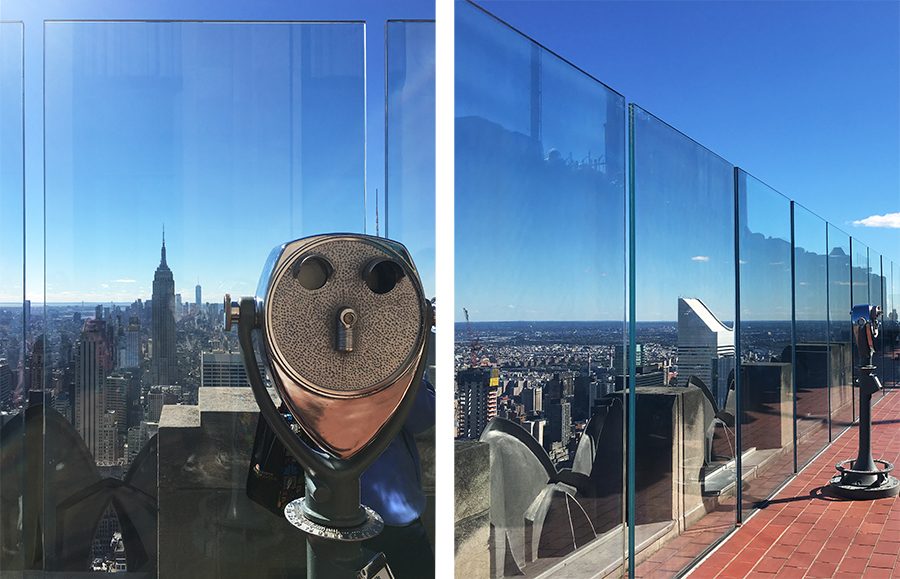 Das tolle am Top of the Rock: Man hat einen prima Blick auf das Empire State Building!