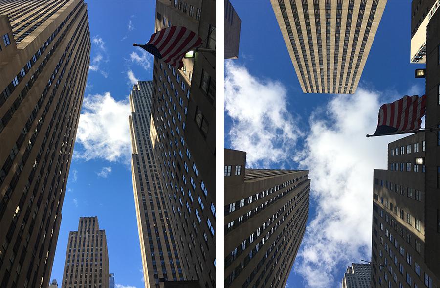 Die Häuserschluchten des Rockefeller Center.