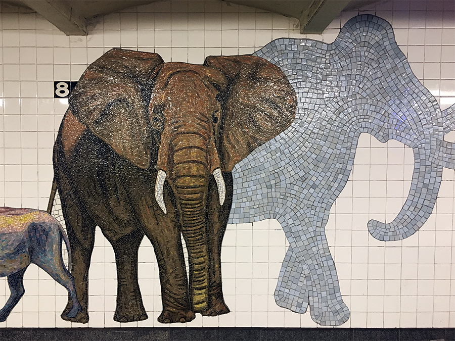 Die Nähe zum 'Museum Of Natural History' ist ganz wunderbar dargestellt in den Mosaiken an der Wand!