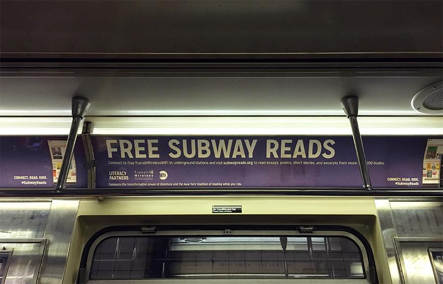 Free Subway Reads - kostenloses Lesen in der Subway!