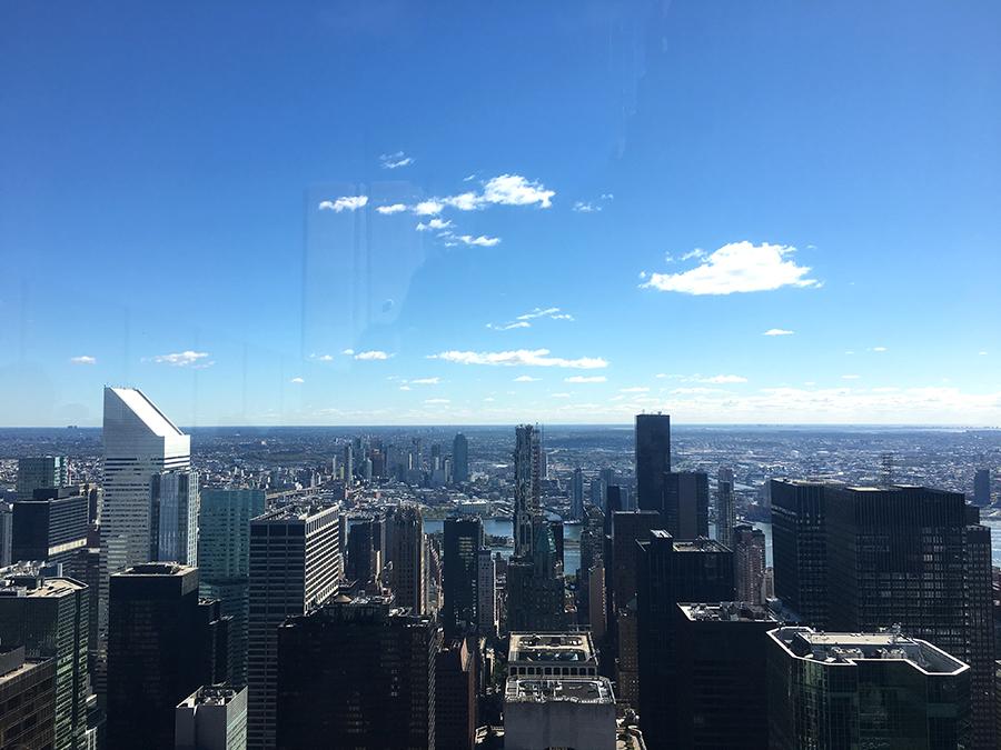 Aussicht über New York vom 'Top of the Rock'.
