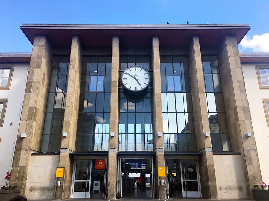 Der Hauptbahnhof von Trier.