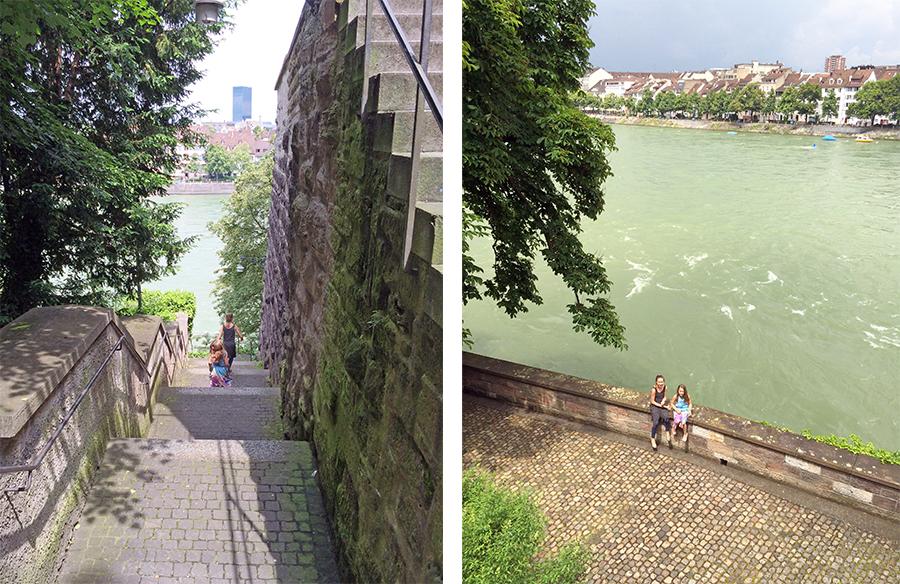 Das Basler Münster liegt wirklich sehr hoch über dem Rhein - wenn man diese ganzen Treppen hinunterläuft und die Stufen einfach kein Ende nehmen wollen, dann wird das einem noch einmal richtig bewusst!