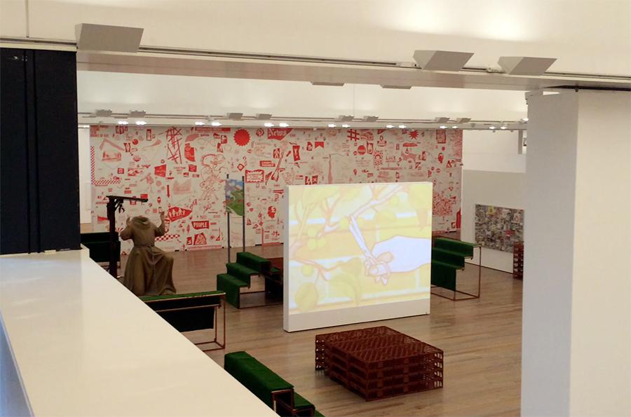 Ein Blick in einen Ausstellungsraum.