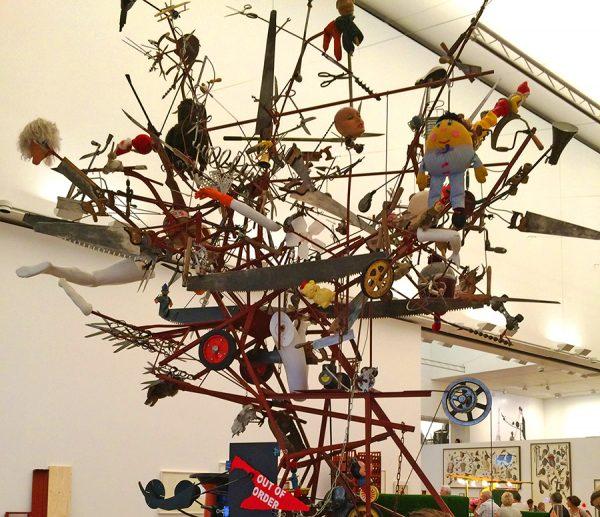 Im Museum Tinguely: Kunst aus Schrott.