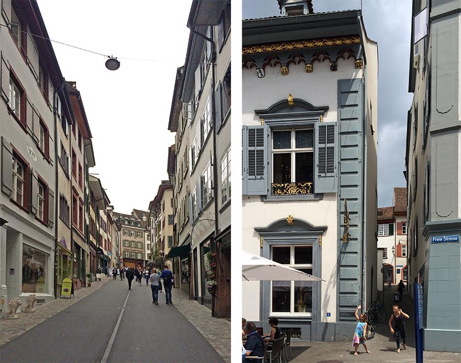 Bergauf und bergauf, über schöne Plätze und durch schmale Gassen - das ist Basel!