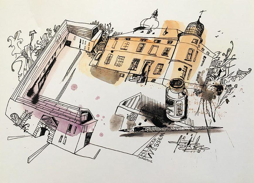 © Das Copyright für diese schöne Zeichnung liegt beim Bilderbuchmuseum Burg WIssem