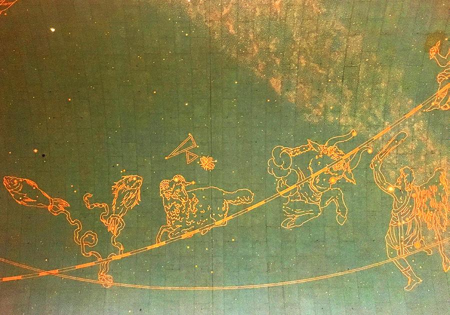 Detailansicht der Decke der Grand Central Station.