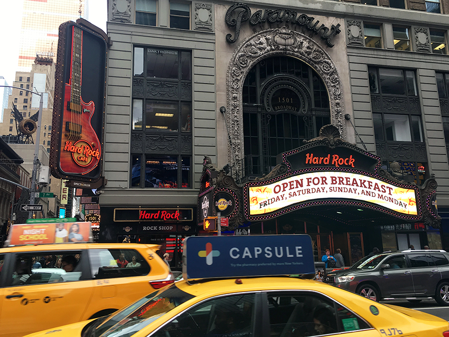 Das Hard Rock Café von New York City.