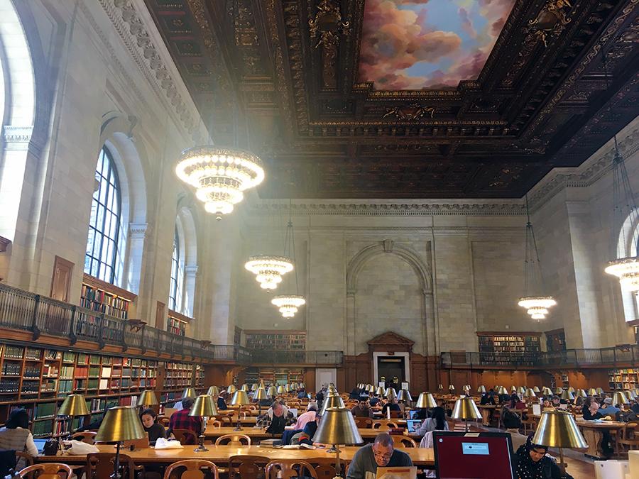 Der große Lesesaal der New York Public Library.