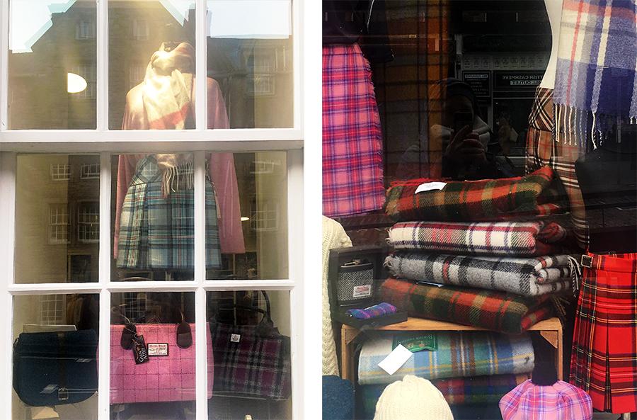 An Schottenmustern kommt man natürlich in Edinburgh nicht vorbei!
