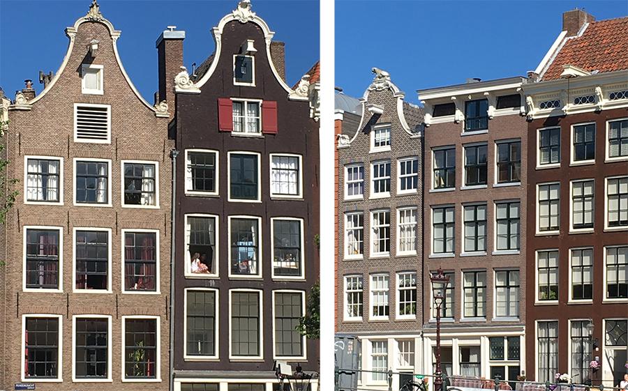 Die klassischen Giebelhäuser Amsterdams.
