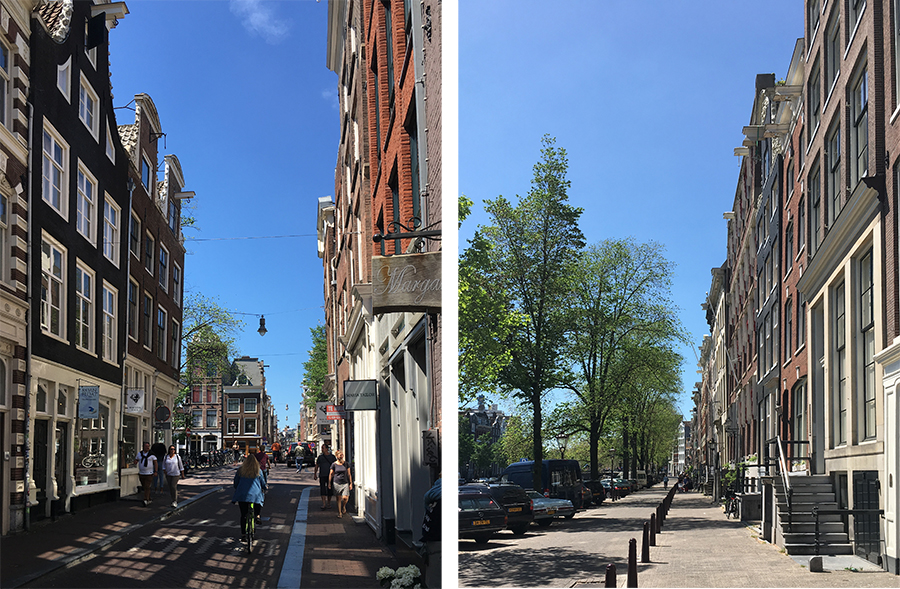Der typische Look der Straßen in Amsterdam.