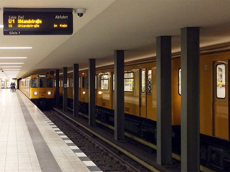 Berliner U-Bahnen sehen echt ganz anders aus als die in Köln.