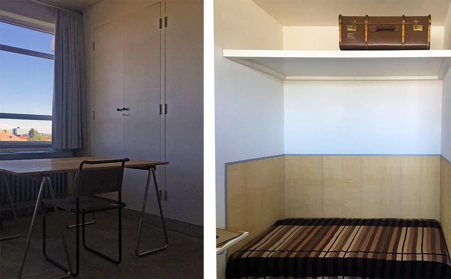 Eins der Studentenzimmer: 20qm zum Leben und Arbeiten.