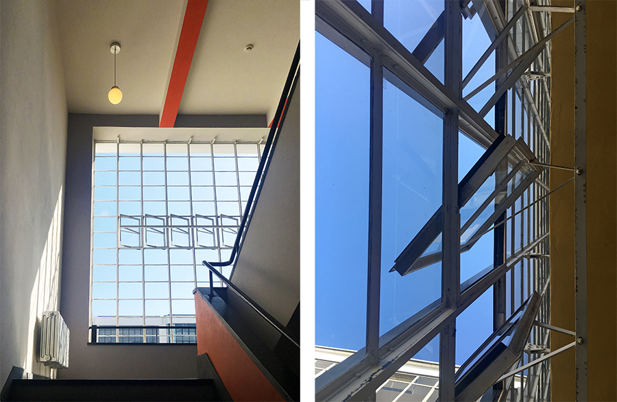 Auch im Treppenhaus fügen sich alle Elemente harmonisch zusammen.