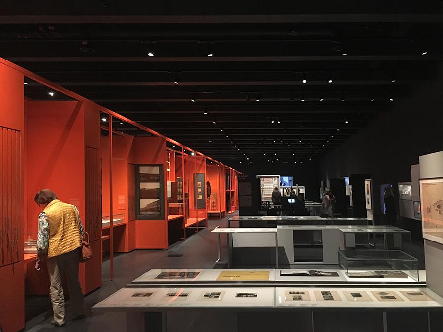 Der Ausstellungsraum im ersten Stock.