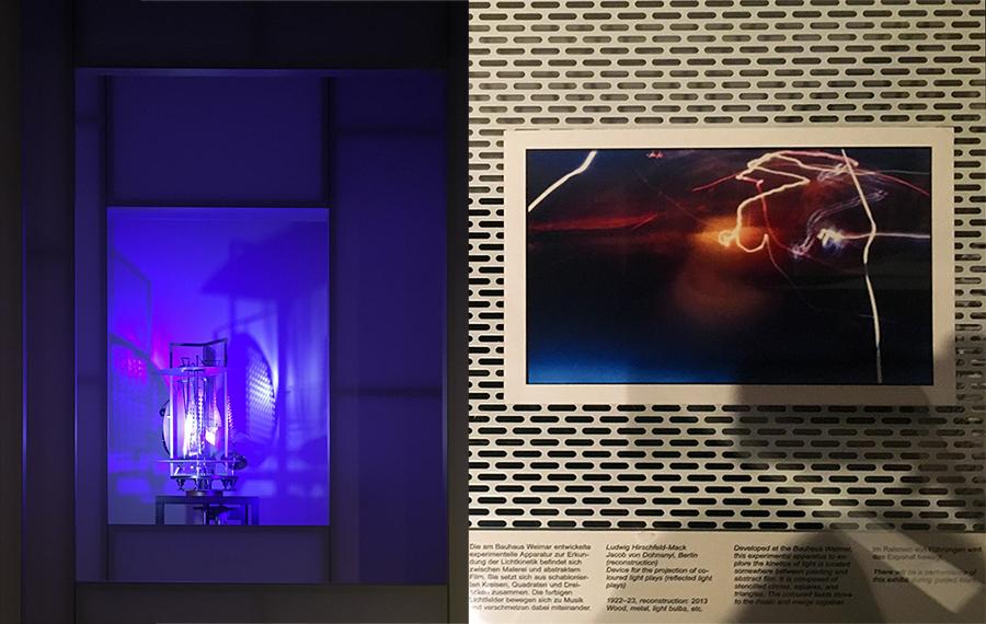 Dokumentation der Foto- und Licht-Arbeiten der Studenten des Bauhaus.