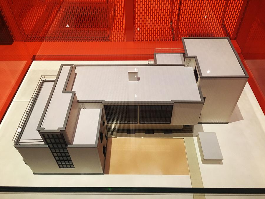 Ein Modell der Meisterhäuser. Cool - die haben wir nun sogar schon in echt gesehen!