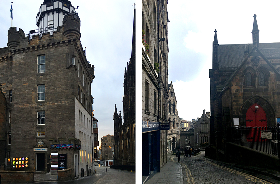 Links: Die 'World of Illusions' und 'The Hub', rechts: Wie eine Filmkulisse sieht das hier überall aus!