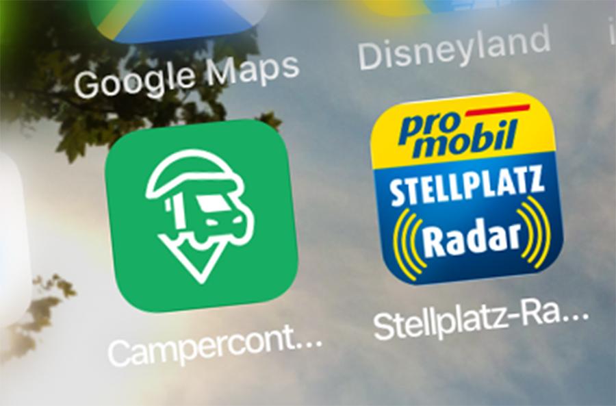Auch für die Stellplatzsuche gibt es natürlich diverse Apps.