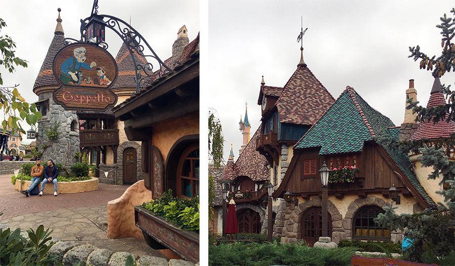... zur Welt von Pinocchio und Gepetto, wo man an seiner 'wagemutigen Fahrt' teilnehmen kann.